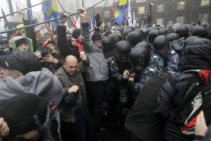 Protesters at Euromaidan (source: Polska The Times)