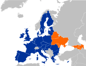 EaP countries marked in orange (source: wikipedia.org)