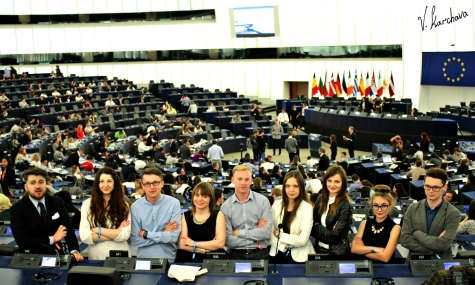 In the Plenary Chamber of the European Parliament in Strasbourg (Photo: Vako Karchava)